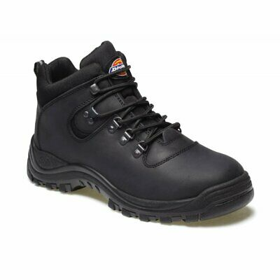 Dickies Fury Leather Safety Work Hiker Boot Sra Steel Toe Cap Black Sizes 7-12