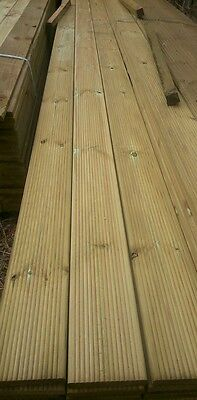 DECKING PRESSURE TREATED 3.6 METRE LENGTHS 125mm WIDTH  30mm thick x 10 LENGTHS