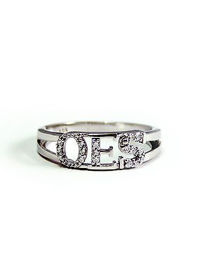 OES sterling silver ring with Lab-Created Diamonds