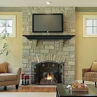 "Pearl Mantel Crestwood fireplace mantel shelf. 48-72"", black, white or chocolate"