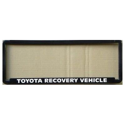 Novelty Number Plate Frame - Toyota Recovery Vehicle Car Auto Accessories Gift
