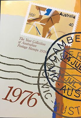 1976 Collection of Australian Stamps in Display folder with information.