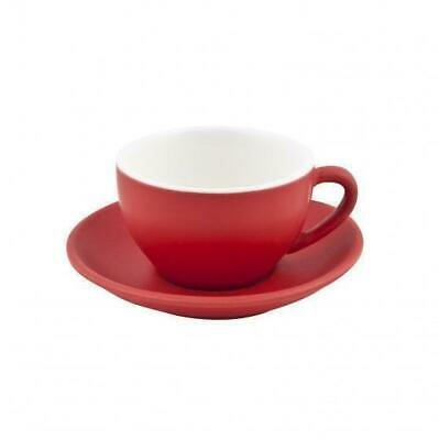 6x Cappuccino Cup & Saucer Set Rosso Red 200mL Bevande Tea Coffee Cups