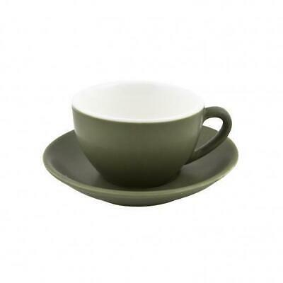 6x Cappuccino Cup & Saucer Set Sage Green 200mL Bevande Coffee Cups Tea Cafe