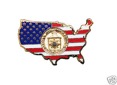Cia Lapel Pin, Us Flag, Central Intelligence Agency Inset, Langley, New