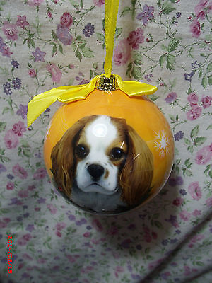 Cavalier King Charles Spaniel Round Ball Christmas Ornament