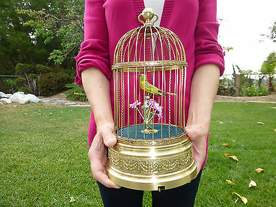 Rare 1890s French Singing Bird Cage Music Box Best Master Built Model =See Video