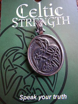 Celtic Raven Strength Limited Edition Pendant Necklace Wiccan Pagan Jewelry