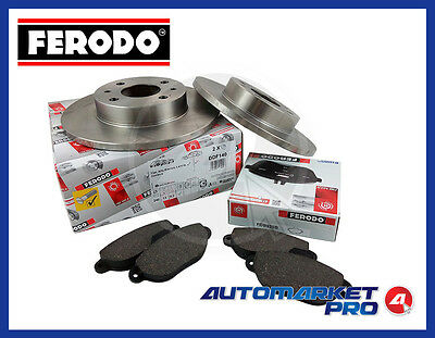 KIT DISCHI FRENO + PASTIGLIE FERODO FIAT PUNTO 1.2 8V III° serie NATURAL POWER