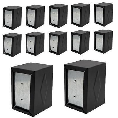 12x Napkin Dispenser D Fold Black Stainless Steel 130x95x115mm Serviette Cafe