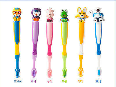 3 ea X Pororo ToothBrushes Animation character / Slim Soft Brush /Anti Bacterial