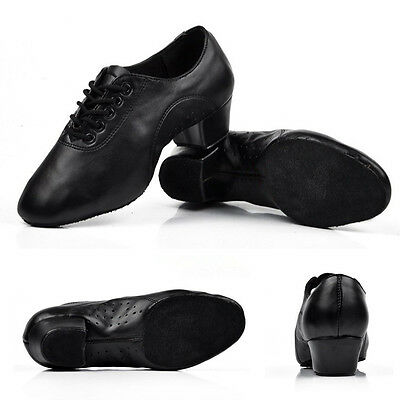 2016 Newly High Quality  Adult Men's Ballroom Latin Tango Dance Shoes heeled