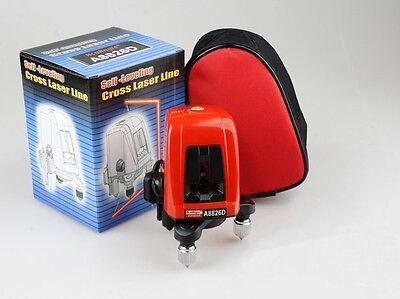 A8826D 2 Lines 1 Point Cross Laser Level 360 Degree Self Leveling Indoor Outdoor