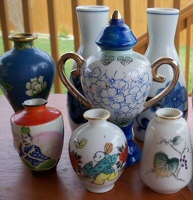 Antique hand painted and decorated china Vase X 10