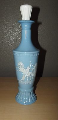 Vintage 1960 Jim Beam Olympian Blue Decanter 14 1/2""