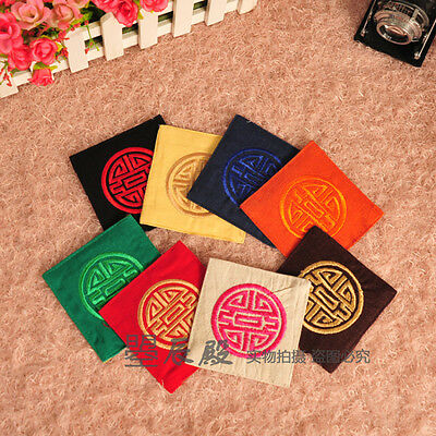 Wholesale5sets/30pcs Chinese Handmade Vintage Flax Embroider Cup Mat Pad Coaster
