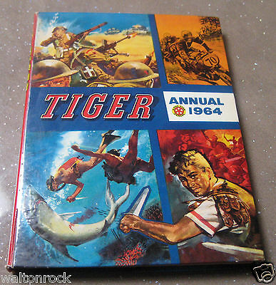 TIGER 1964 ANNUAL ~ FLEETWAY ~ IN VERY ACCEPTABLE VINTAGE CONDITION 12 pics