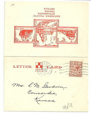 """Canadian Pacific Steamhips Letter Card. """"Melita"""""""