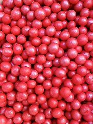 RED CRISPY 6-7mm PEARLS BALLS  Edible Sugar Cupcake Sprinkles Cake Decoration