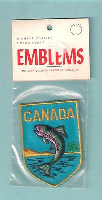 Canada Fish Vacation Country Souvenir Vintage Travel Vacation Patch