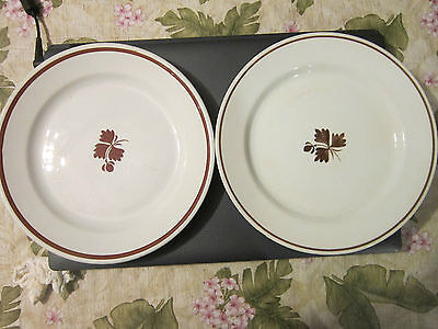 """2 Antique Royal Ironstone China Alfred Meakin England 9"""" Dinner Plates"""