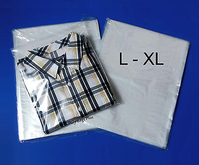 """1000 12x16"""" Clear Poly Bags Large XL Shirt 1Mil Plastic Flat Open Top Baggies"""