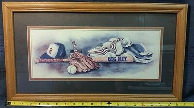 Home Interior Glenda Brown children's baseball framed art  *revised*