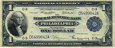 1918 Federal Reserve Bank Note Of Philadelphia ~Reproduction~