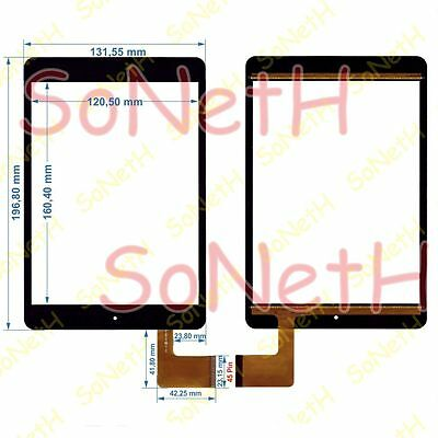 """Vetro Touch screen Digitizer 7,85"""" Majestic TAB-479 3G Tablet PC Nero"""