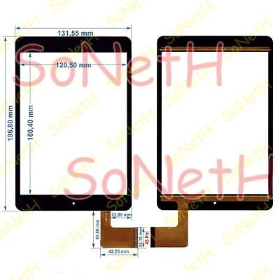 """Vetro Touch screen Digitizer 7,85"""" MAJESTIC TAB-778 3G Tablet PC Nero"""