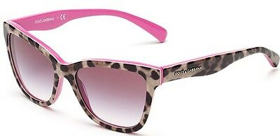 DOLCE & GABBANA D&G Child's Pink Fuchsia Leopard Cheetah Animal Print Sunglasses