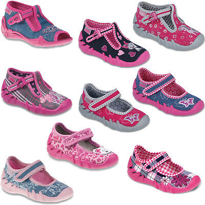 Befado Girls canvas shoes sandals infants kids trainers slippers size 3 - 9UK