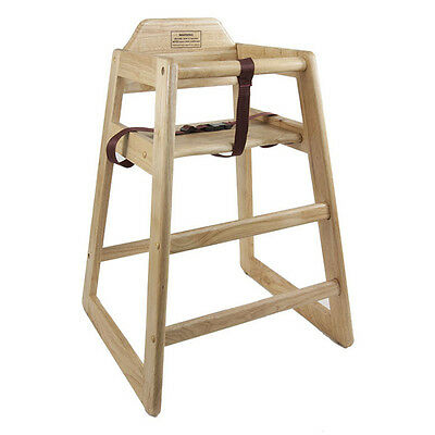 Thunder Group Wood High Chair in Natural Finish For Baby Feeding, WDTHHC018 New