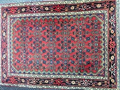 """Antique/ Vintage Persian Hamadan Rug Excellent Condition For The Age 3' 5""""x4'11"""""""