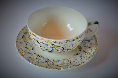 Gien Toscana Pattern China Coffee ,tea Cup And Saucer