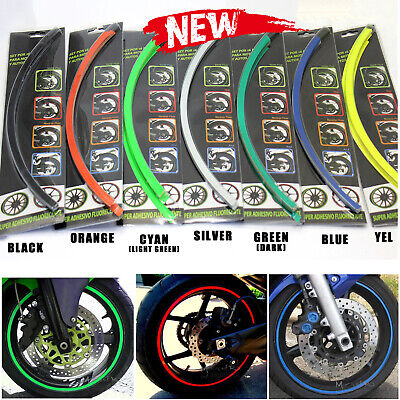 "17"" inch  Wheel Rim Stripe Universal fit Motorcycle Car Sticker decal"