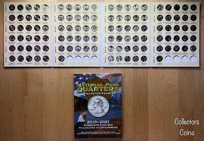 2010 - 2019 ATB National Park 92 Quarter PD Set to Date wDeluxe Collector Folder