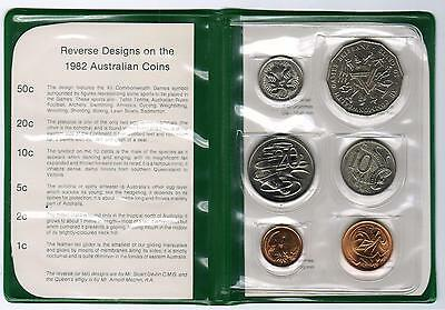 1982 RAM Uncirculated (UNC) 6 Coin Mint Set - XII Commonwealth Games
