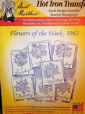 Aunt Martha's Hot Iron Transfer # 3963 Flowers of the Week