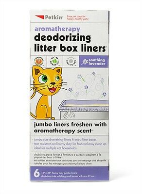 Petkin Litter Box Liners Lavender Pack of 6 (72210)