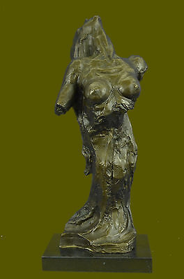 """Nude Female""-Contemporary ORIGINAL Modern ART ABSTRACT bronze SCULPTURE, SIGNED"