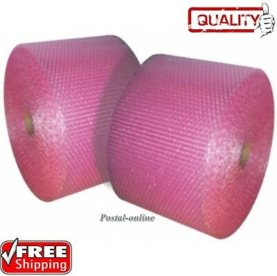 500mm roll * PINK * SMALL BUBBLE WRAP ANTI  STATIC