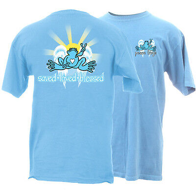 New Peace Frogs Saved. Loved, Blessed Medium Adult T-Shirt
