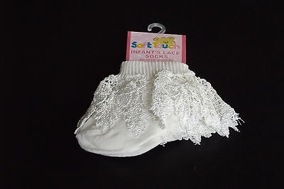 Baby Lace Socks Cream Deluxe Soft Touch Christening 0-3 3-6 6-12 Months NEW