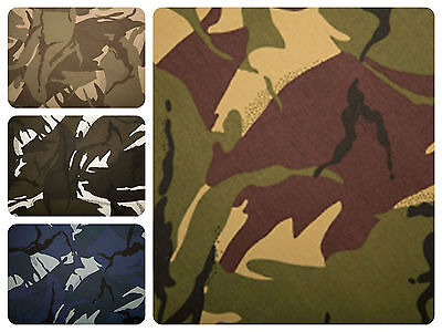 """Camo Cotton Drill Fabric - Army Camouflage Material - 150cm (59"""") Wide"""