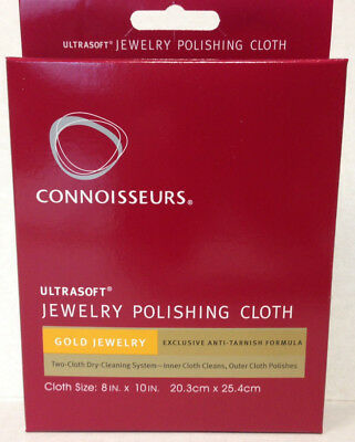 """Gold Polishing Cloth Connoisseurs 8"""" x 10"""" Cleaner Ultra Soft 5 STAR RATINGS."""