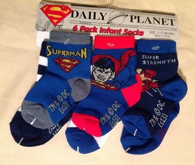 Daily Planet Superman Socks Special Edition 3-12 Months **free Shipping**