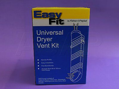 Fpp6451 Genuine Fisher & Paykel Dryer Vent Kit And 2 Metres Of Flexible Duct