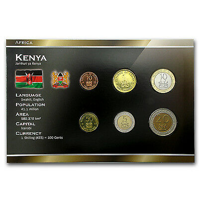 1995-2005 Kenya 10 Cents-20 Shillings Coin Set Unc - SKU #87179