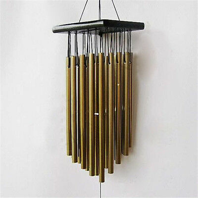 New Hot 16 Tube Metal Pendant Copper Bell Yard Garden Outdoor Living Wind Chimes